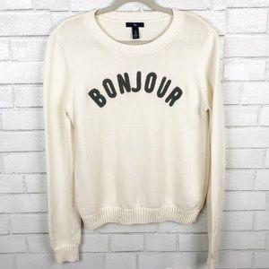Gap Ivory Frost Bonjour Sweater Size M
